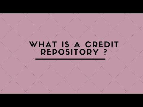 WHAT IS A CREDIT REPOSITORY ?