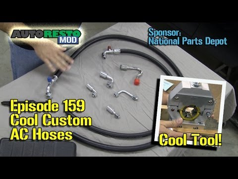 Make Classic Car AC Custom Hoses with Mastercool Air Conditioning Tool  Episode 158 Autorestomod