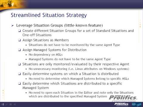 Streamlined Situation Strategy