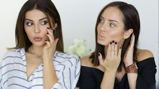 No Brushes Makeup Challenge! \\ Get Ready with Us feat. SimplySona!