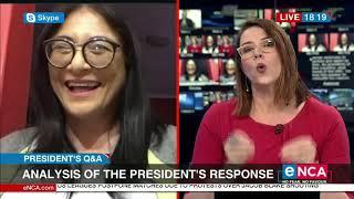 Karima Brown Talks On Ramaphosa Responses