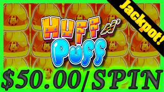 $4,000.00 GROUP PULL ON Huff N' Puff Slot Machine! Upto $50.00/SPIN! JACKPOT HAND PAY W/ SDGuy1234