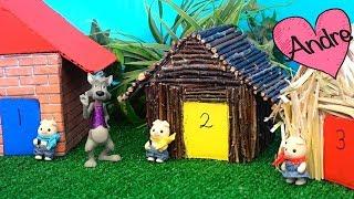 Cuento Los tres cerditos y el lobo feroz | Jugando muñecas y  juguetes con Andre para niñas y niños thumbnail
