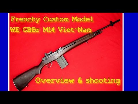Airsoft - LAW airsoft - FCM - M14 Viet Nam RS WE GBBr [ENG sub]