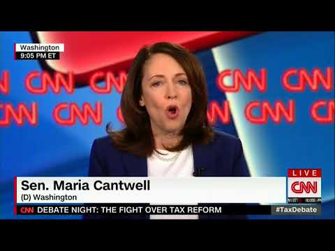Leftist Democrat Maria Cantwell Think Tax Cuts are Government Spending
