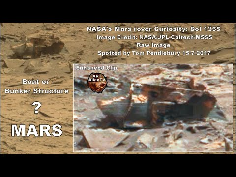 Mars Boat or Bunker Structure Found - Close Up - ArtAlienTV