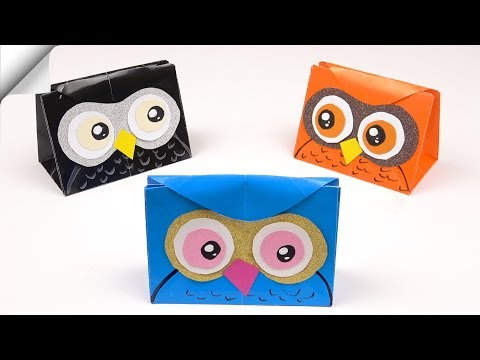 DIY paper bag owl | How to make paper bag