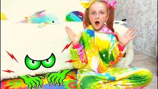 Monster under the bed story with Tawaki kids