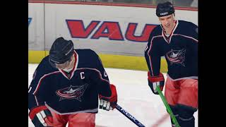 NHL 09 PC Gameplay Blue Jackets Vs Penguins | No Commentary