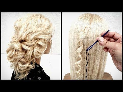 Быстро ловко зашиваем прическу.Красивые прически пошагово.To Sew Up Hair Very Quickly.DETAILED VIDEO