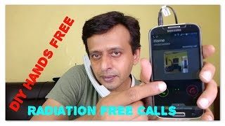 DIY Radiation free hands free calling | Cell phone | Mobile unlimited callling