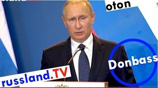 Putin zur Donbass-Eskalation auf deutsch