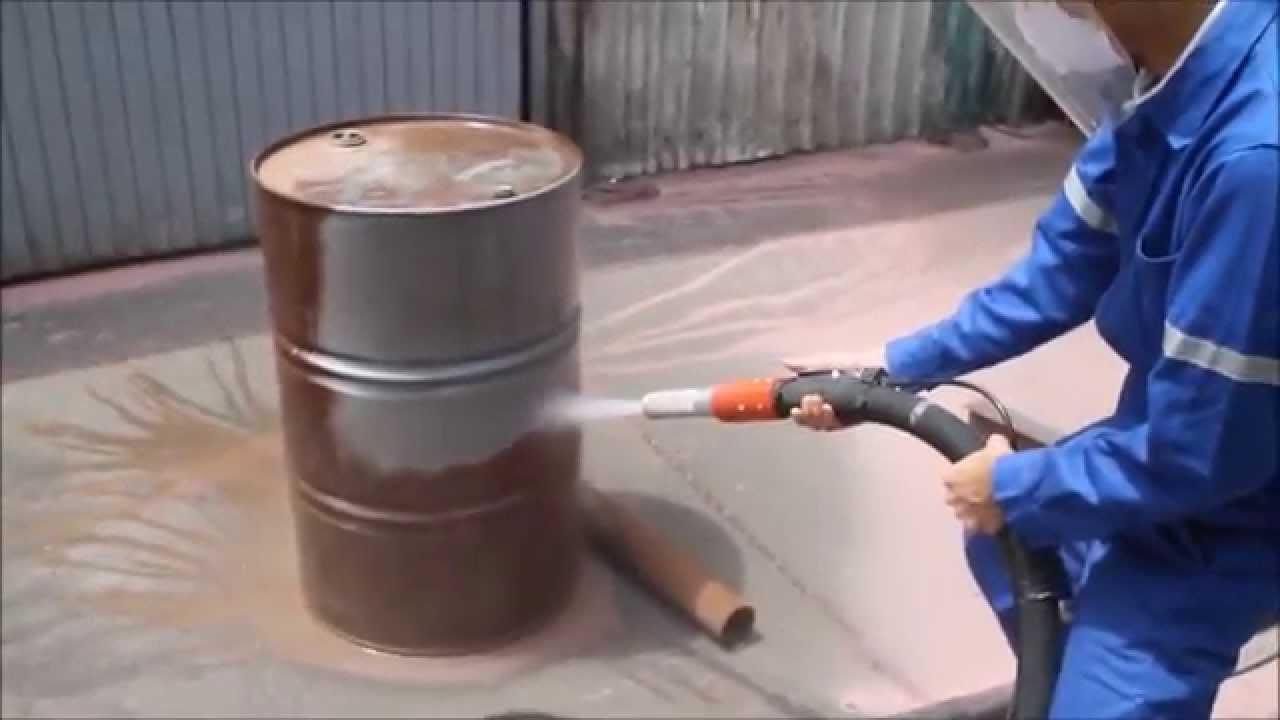 Limpieza de tambores con el EcoQuip 200T  YouTube
