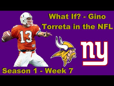 What If? Series - Gino Torretta in the NFL - Episode 5 (S1W7) at New York Giants