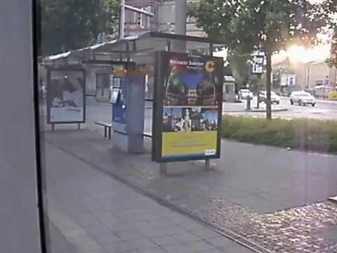 Mockau-Post - Friedrichshafenstraße. Mitfahrt mit NGT8 in Leipzig