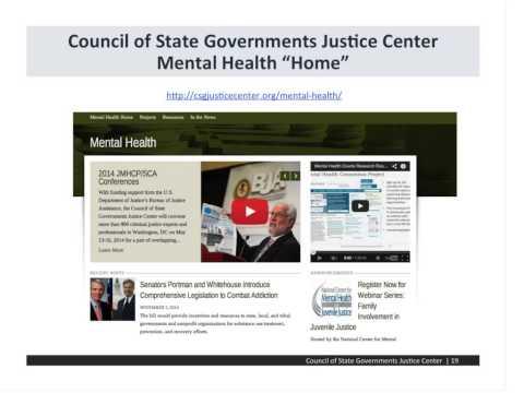 Justice and Mental Health Collaboration Program Grantee Orientation