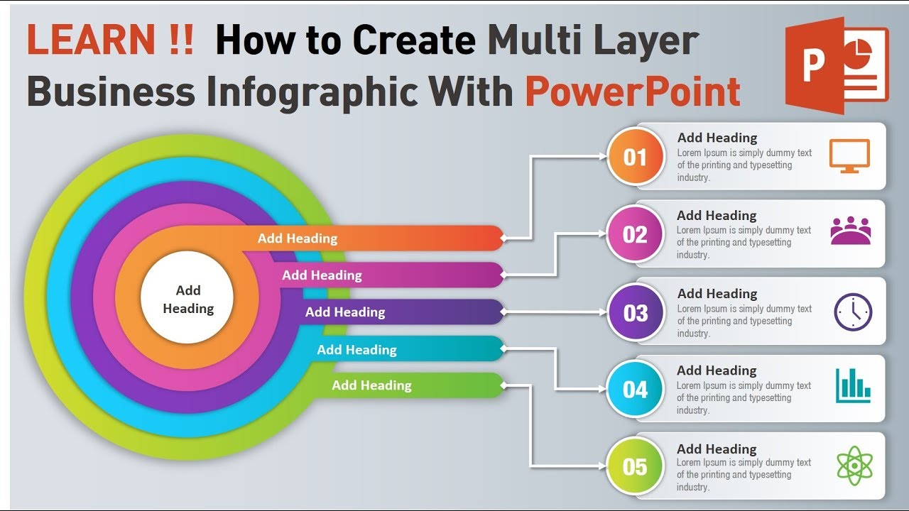 How to Create Multi Layer Infographic with powerpoint ...