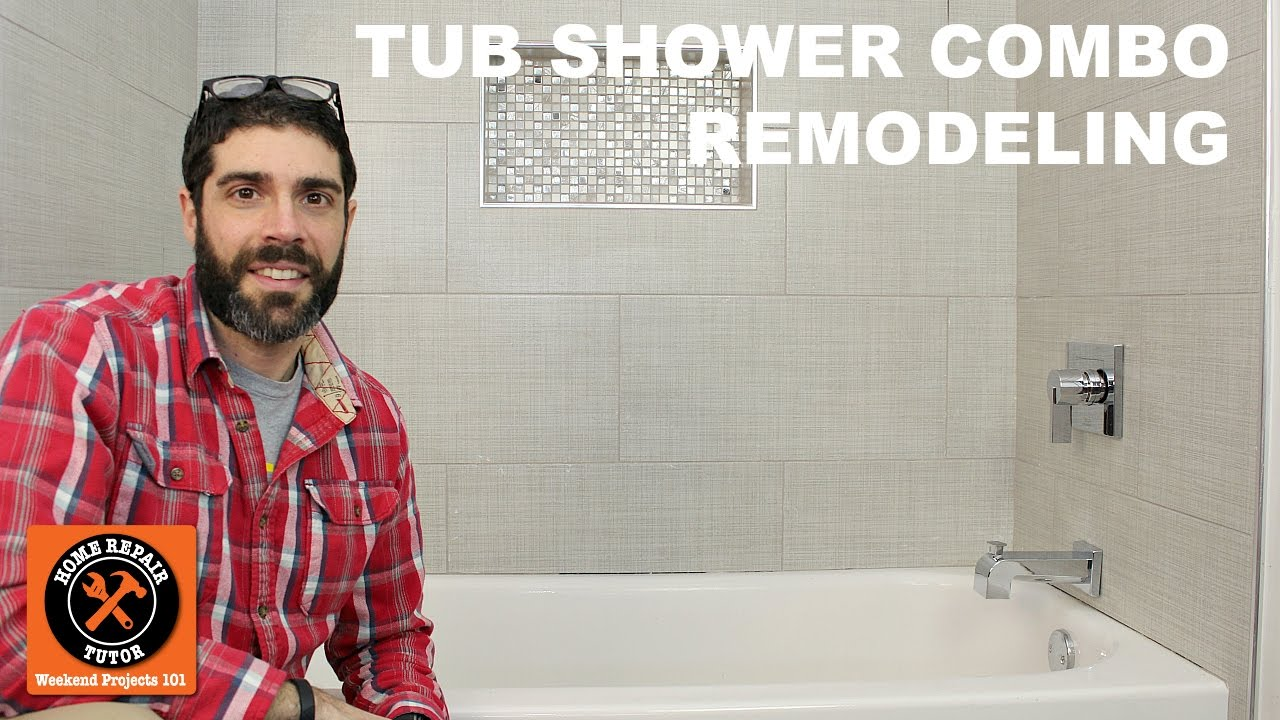 Quick Bathroom Remodel Amazing Tub Shower Combo Remodeling Quick Tips Home Repair Tutor . Design Inspiration