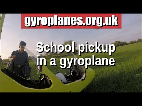 School pickup in a gyroplane/gyrocopter