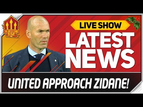 Manchester United Approach ZIDANE! Man Utd News