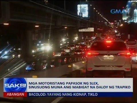 Saksi: Mga motoristang papasok ng SLEX, sinusuong muna ang mabigat na daloy ng trapiko