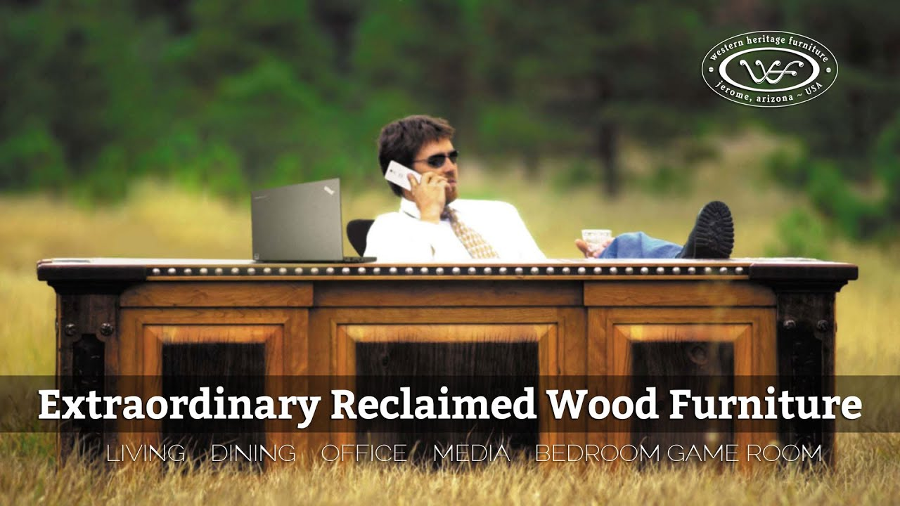 Reclaimed Wood Furniture 100 Years In The Making   YouTube