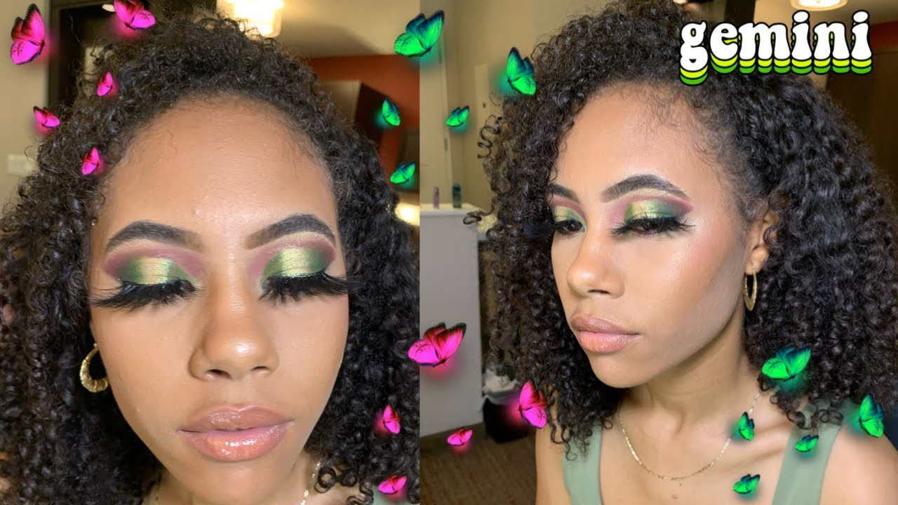 Download Gemini Green 💚 & Glitter ✨ Halo Eye 😇 | cut crease | [ voiceover ] • Crispina