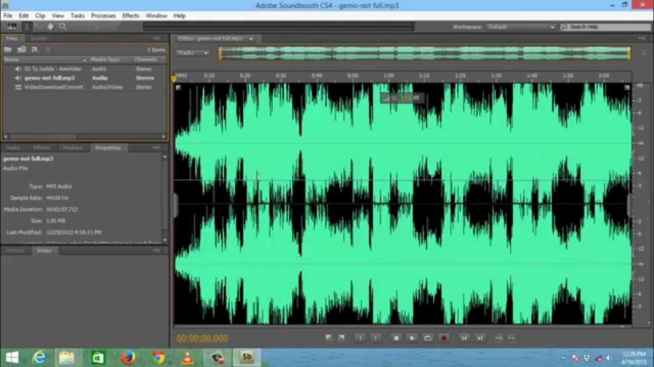 Safe editing in adobe soundbooth: adobe audition tutorial.