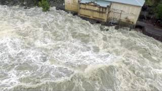 Tasmanian Floods Duck Reach Power Station Launceston June 7th 2016 (Watch in HD)
