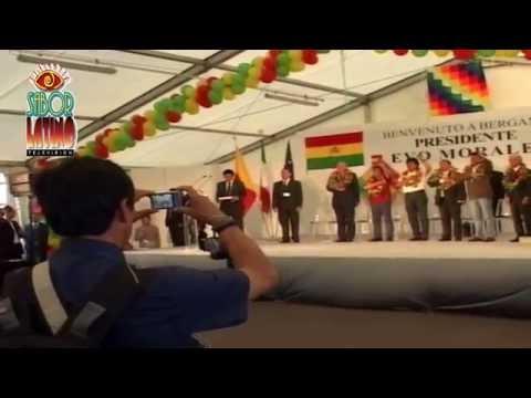 Llegada del pte. Evo Morales a Italia - Bergamo.