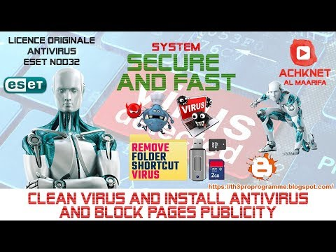 Clean virus and install antivirus and block pages publicity