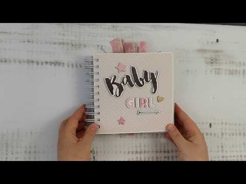 Cinch binding scrapbooking album for a baby girl dla dziewczynki Little You by Crate Paper
