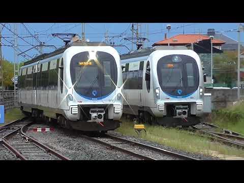Euskotren - 929 entrando en Deba rebasando a 951
