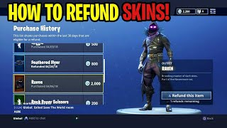 *NEW* Fortnite: How To Refund SKINS, GLIDERS & PICKAXES For FREE V-Bucks! Battle Royale NEW UPDATE!