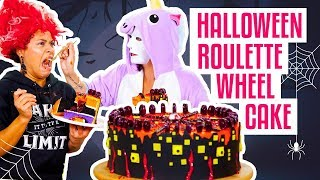How To Make A GROSS-Tacular Surprise Inside HALLOWEEN ROULETTE CAKE   Yolanda Gampp   How To Cake It by : How To Cake It