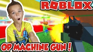 DEADSHOT MACHINE GUN IST SUPER OP in ROBLOX SUPERHERO TYCOON