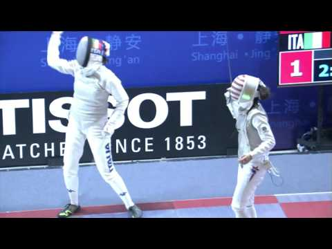 FE W F Individual Shanghai CHN GP 2016 Final podium KIEFER USA vs ERRIGO ITA