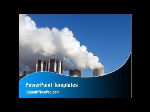 Thermoelectric Power Station PowerPoint Template Backgrounds -  DigitalOfficePro #00262