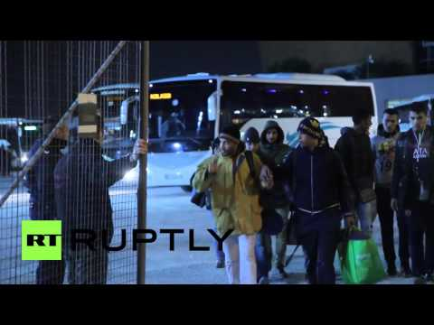 Greece: Refugees arrive in Athens after forced deportation from Idomeni camp