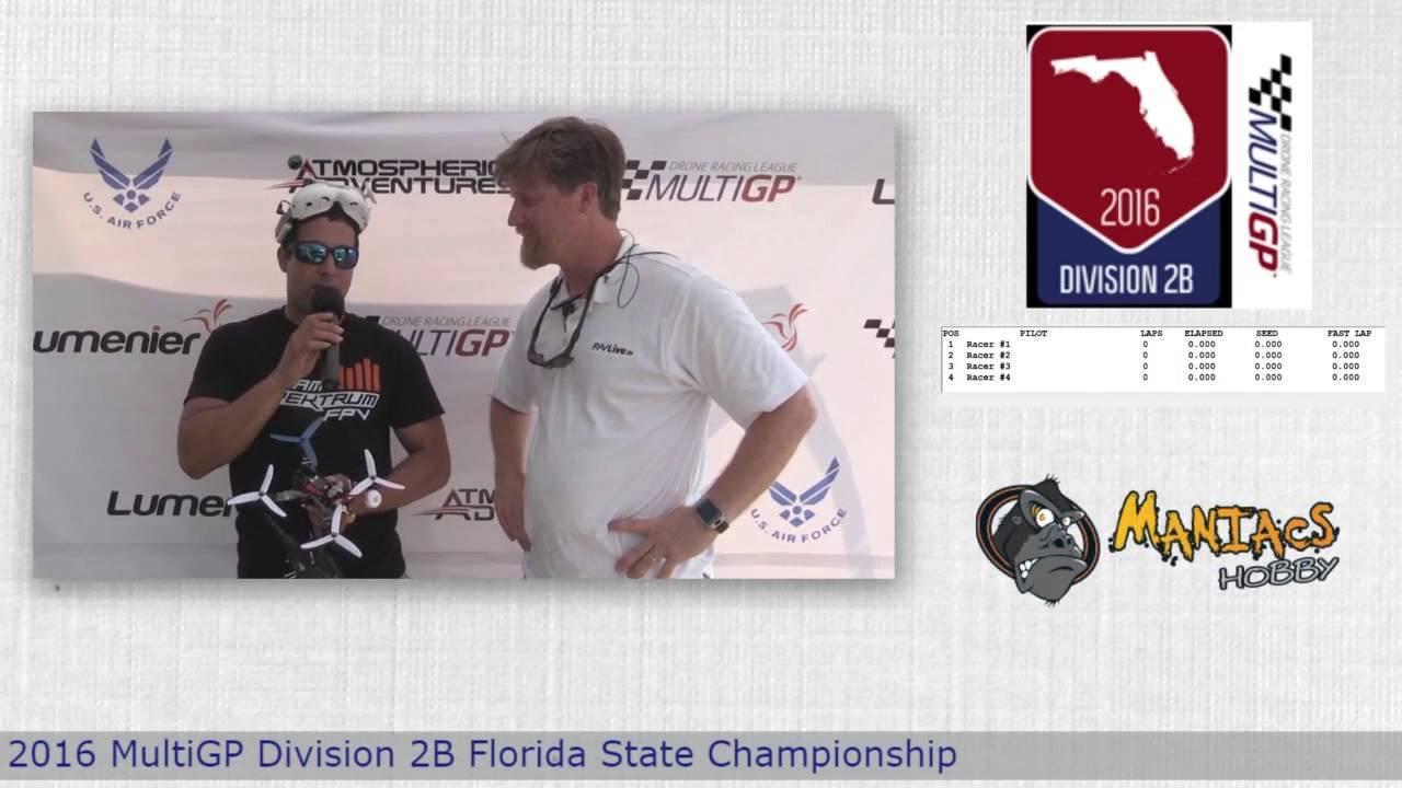 "2016 MultiGP 2B Florida Finals Abel ""Navihawk"" Almaguer Victory Speech"