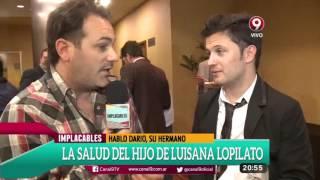 Darío Lopilato habló sobre el estado de salud de su sobrino
