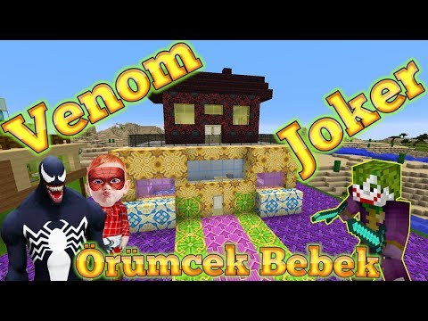 Venom Minecraft'ta Joker'e Tuzak Kuruyor Örümcek Bebek Venom Ve Joker Ile Minecraft Macerası