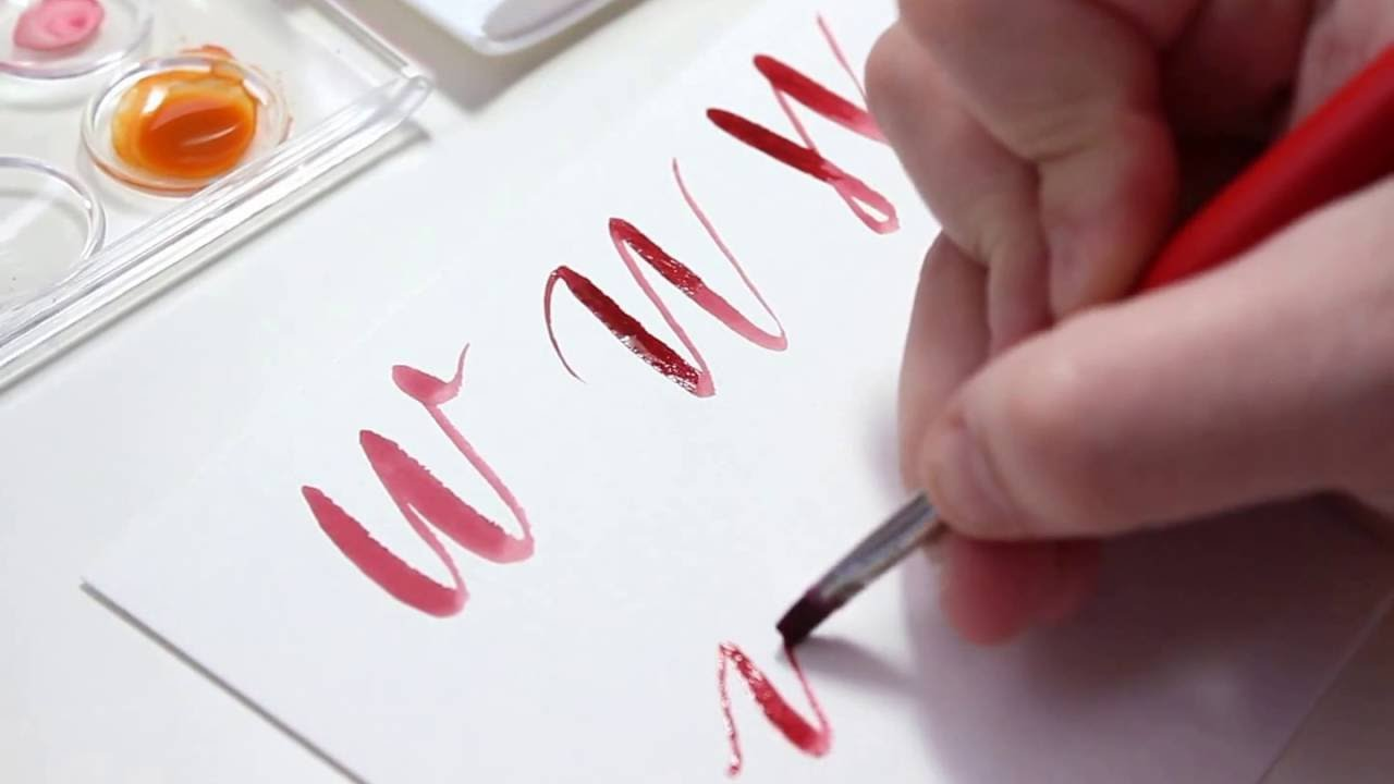Calligraphy letter w with normal pen youtube