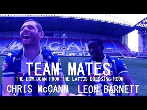 TEAM MATES: Leon Barnett and Chris McCann