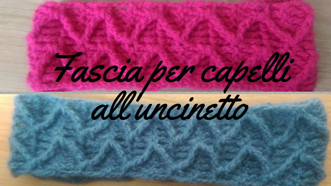Fascia per capelli all uncinetto - punto zig-zag a rilievo - YouTube 74f2acedb6ad
