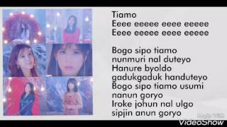 [EASY LYRICS] T-ara - Tiamo Mp3