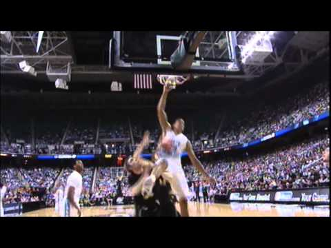 James Michael McAdoo - dunk vs. Vermont 3/16/12
