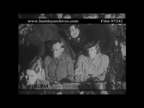 Wartime Cinema.  Female Projectionist.  Archive film 97242