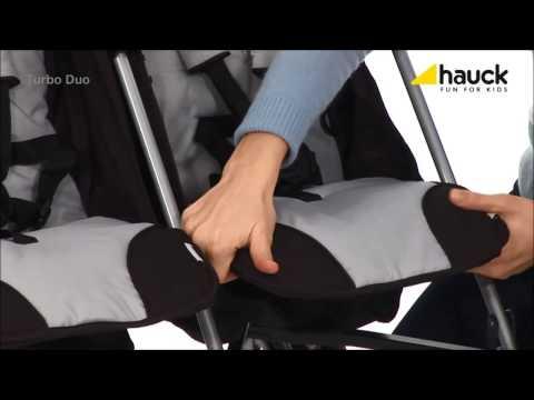 Коляска-трость для двойни Turbo Duo H-grey Hauck (Хаук)