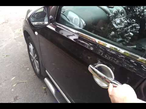 Qashqai auto folding wing mirror kits - YouTube